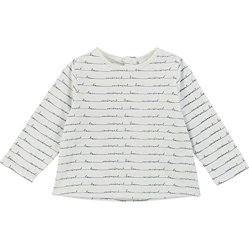 CARREMENT BEAU T-Shirt Jersey Coton Velours Bebe Couche OFFWHITE 3MOIS