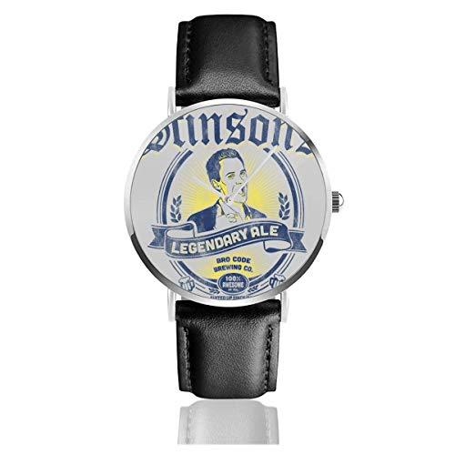 Relojes Cuarzo Cuero Banda Negra Colección Joven Regalo Unisex Business Casual Stinsons Legendary Ale How I Met Your Mother
