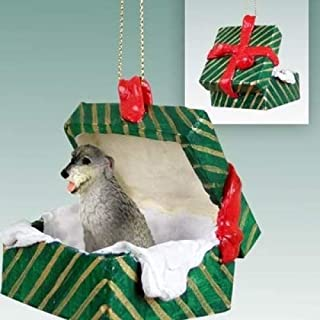 Best Conversation Concepts Irish Wolfhound Gift Box Green Ornament Review