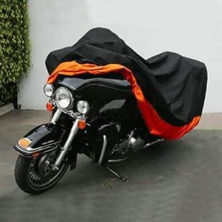 Black & Orange Motorcycle Cover for Yamaha YZF R1 YZFR1 Bike UV Dust Protector L