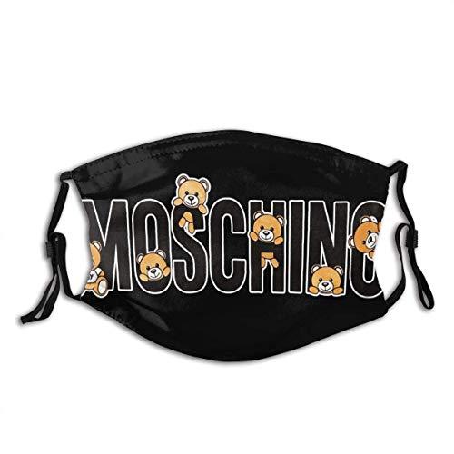 Moschino - Protezione per il viso, per esterni, antivento, antipolvere e senza cuciture, ripetibile, lavabile, regolabile