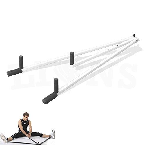 Leones® Heavy Duty 3Bar Pierna Camilla estiramiento artes marciales Máquina Yoga patas Stretch, blanco