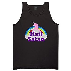 Hail Satan Unicorn Mens Tank Top Shirt