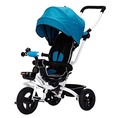 XHSLC Trikes kinderen driewielers kinderen 4 in 1 kinderfiets 3-5 jaar oud handpush kinderwagen kind fiets (kleur: paars)