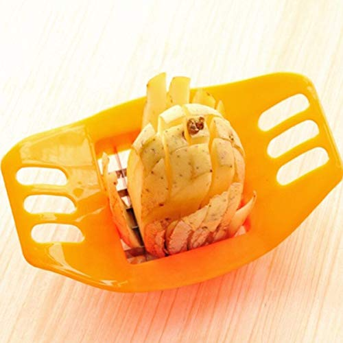 Buffer Potato Slicer Cutter French Fry Cutter Chopper, Chips French Fries Making Tool Potato Cutting Kitchen Gadgets Potato Carrot Vegetable Vertical Cut Cutter Slicer