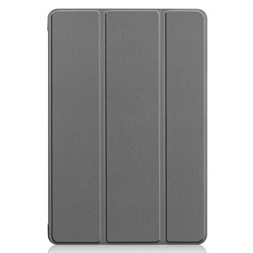 Lobwerk Hülle für Huawei MediaPad M5 Lite 10 mit 10.1 Zoll Smart Cover Etui mit Auto Sleep/Wake Funktion Grau