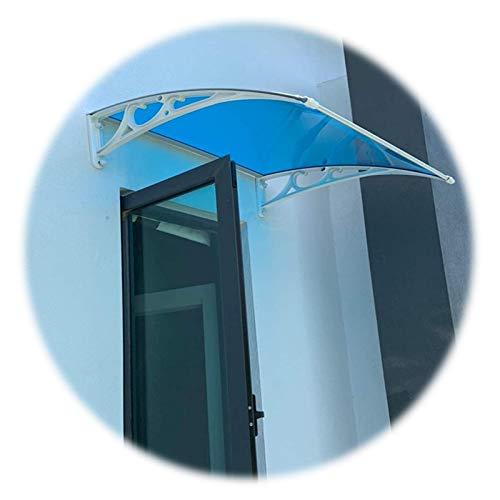 GuoWei Marquesina para Puertas Ventanas, Cubierta Protectora De Lluvia Y Nieve UV para Terraza, Toldo De Policarbonato Translúcido Escalable, Tamaño Personalizado (Color : Blue, Size : 60x60cm)