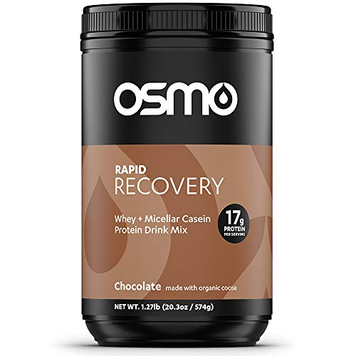 Osmo Nutrition Rapid Recovery Mix | Whey Isolate & Micellar Casein Powdered Drink | Accelerates Glycogen Restoration | Enables Muscle Repair | Rich Chocolate | All Natural Ingredients | 14 Servings