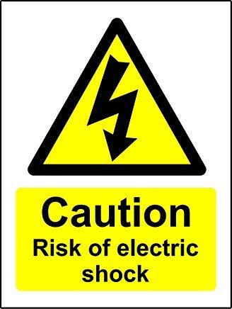 Calcomanías de advertencia de riesgo de choque eléctrico, etiquetas adhesivas, vinilo autoadhesivo,...