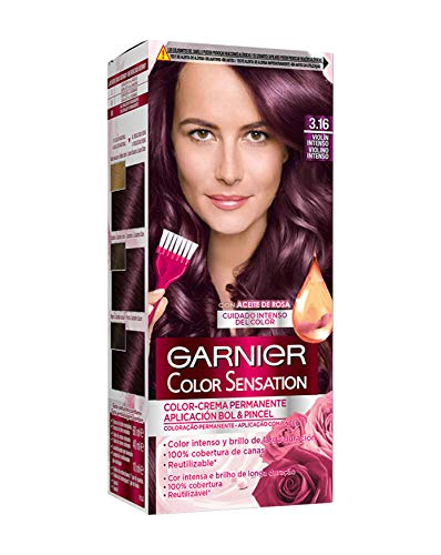 Garnier Color Sensation coloración permanente e intensa reutilizable con bol y pincel - 3.16 Violín