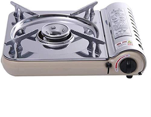 ewrwrwr Cocina de Gas portátil para Acampar Estufa de Gas para Camping Ultra Delgada de Acero Inoxidable Cocina de Gas de un Solo Quemador Cocina portátil para Barbacoa de butano al Aire Libre