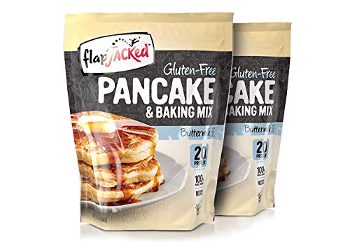 FlapJacked Protein Pancake & Baking Mix, Gluten-free Buttermilk, 24oz, 2 Pack