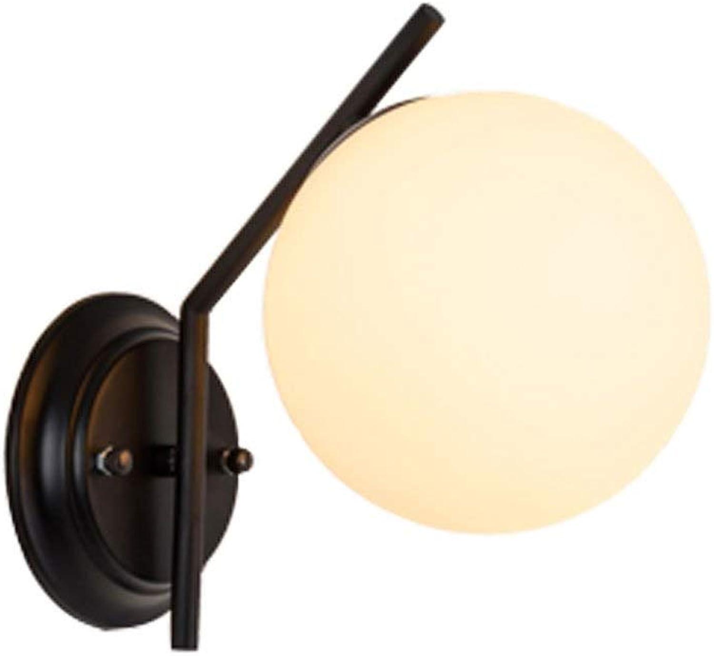 Wandlampe, Amerikanische Unbedeutende Moderne Schlafzimmerbettwohnzimmer-kugelfrmige Eisenwandlampe, Die Nach Hause Beleuchtet (Farbe   A)