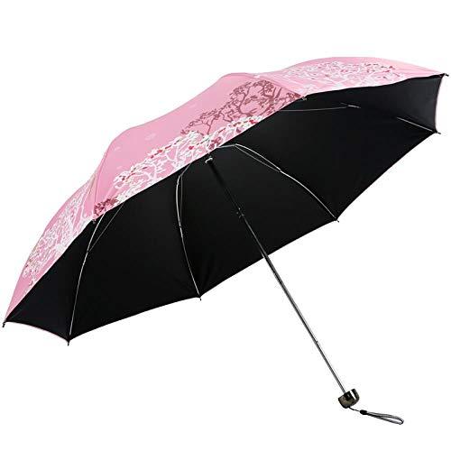 xmwm Parasol triple de vinilo de 57 cm x 8 parasol, ultraligero, A, radio de 54 a 61 cm.
