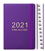 日記2021プランナー2021クラシックA5カバープランナー2021タブ付き日記旅行2021日記2021人のビジネスのためのプランナー青少年文学など-紫の