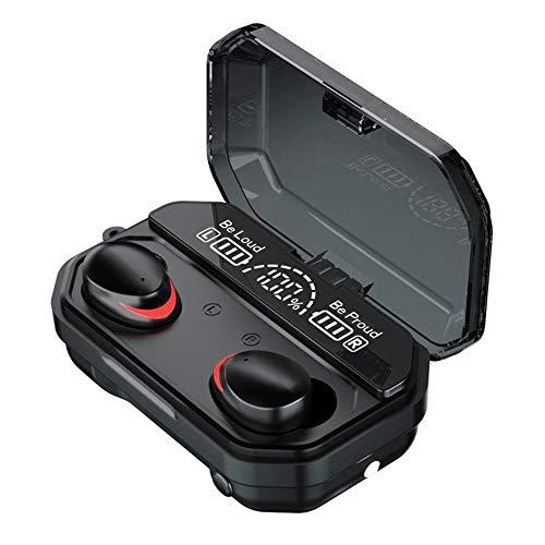 LIAWEI Kabelloses Headset Bluetooth 5.1, Touch-Steuerung, geladenes digitales Display, integriertes Mikrofon, integriertes Mikrofon, kann für Taschenlampe verwendet werden, magnetisches Ladefach
