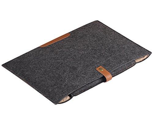 Laptops Tasche Hüllen Schutzhülle Schutztasche Tragbare Bag für MacBook Air/Pro/Retina Ultrabooks Netbooks Tablets Schwarz 15.4 Zoll