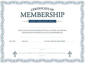 Certificate of Membership - Church Membership - 8.5 x 11 - KJV Scripture -- Premium, Blue Foil Embossed - KJV - (Package of 6)