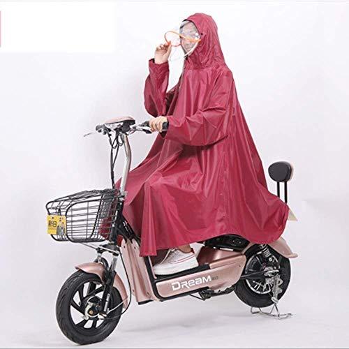ZXL Regenjas Regenjas Fietsregenjas, regenbestendig Cape Scooter Set elektrische fiets regenjas volwassenen outdoor uitrusting Oxford cape regencape blauw rood XXXL regenkleding (kleur: Sch