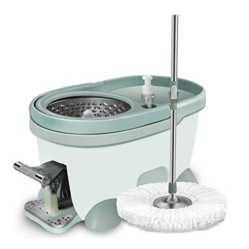 velocidad Mop Manual Rotating Microfibre Home Hand-Free Dry and Wet Dual Use Mop Set