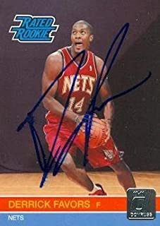 Derrick Favors autographed Basketball Card (New Jersey Nets) 2010 Panini Rated Rookie #230 - Basketball Autographed Cards