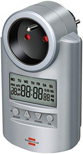 Brennenstuhl Primera-Line Programmateur hebdomadaire DT multifonctionnel, timer digital programmable pour les appareils domestiques, gris, Quantité : 1