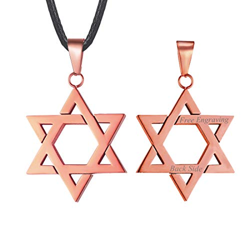 Jewish Jewelry Megan Star of David Pendant Necklace 18K Gold Israel...