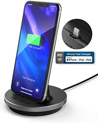 Encased iPhone Charger Stand MFi Certified Fast Charging Lightning Desktop Holder Dock with product image