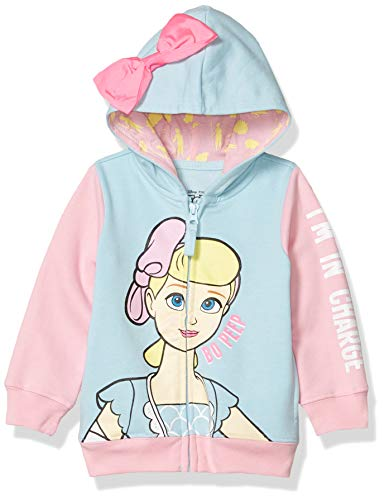 Disney Baby Girls' Toddler Hoodie, Light Blue/Light Pink, 4T