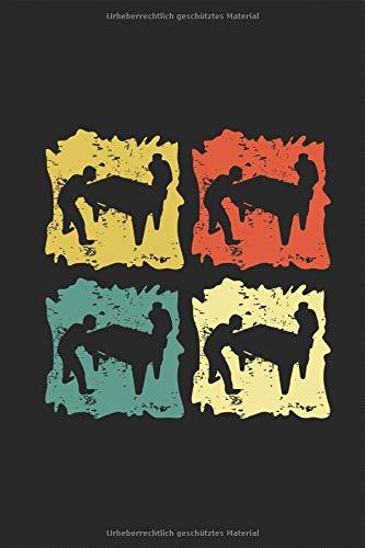 Tischkicker Silhouette Retro Vintage Grunge Notizbuch: Tischfussball Kickern Planen Tisch Fussball Notieren Rechenheft Liniert Journal A5 120 Seiten ... Tagebuch  Geschenk für Tischfussballer