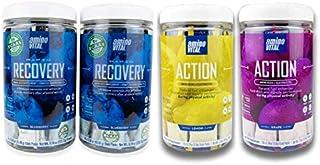 amino VITAL- Pre and Post Workout Vegan Amino Acid Mix | BCAA, Glutamine, Arginine | Lemon, Grape and Blueberry Flavors