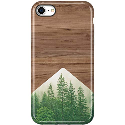 VIVIBIN iPhone SE Case 2020,iPhone 8 Case,iPhone 7 Case,Cute Wood and Forest for Women Girls Clear Bumper Protective Cover Slim Fit Phone Case for iPhone 8/iPhone 7/ New iPhone SE