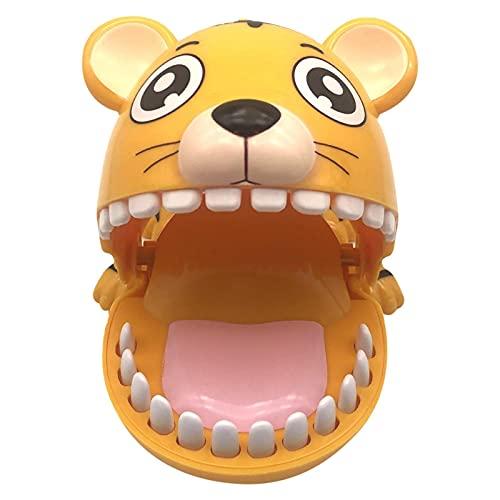 Juguete de dientes de tigre - Juguete de dentista de dedo para morder animales para niños