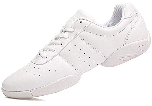 Smapavic Cheer Shoes Women White Cheerleading Dance Shoes Fashion Sneakers Tennis Athletic Sport Training Shoes for Gilrs White 7 B (M) US / 6.5 US