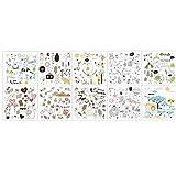 TOSSPER 10pcs Niños Nota Etiquetas Autoadhesivas Flores del Jardín De Mariposas Pegatina para Libro De Recuerdos Cuaderno De Tarjeta Carta Hacer