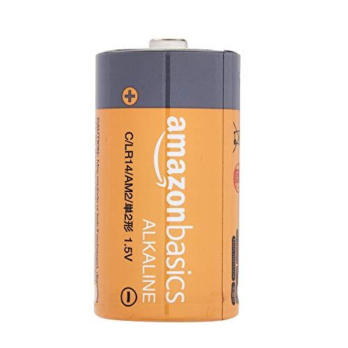 Grundig Music 60, empfangsstarkes Radio im modernen Design, White/Silver & Amazon Basics - Everyday Alkalibatterien, Typ C, 4 Stück