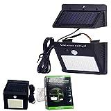 Luz solar exterior-interior sensor de movimiento y placa separada foco solar led panel separable lámpara impermeable de jardín