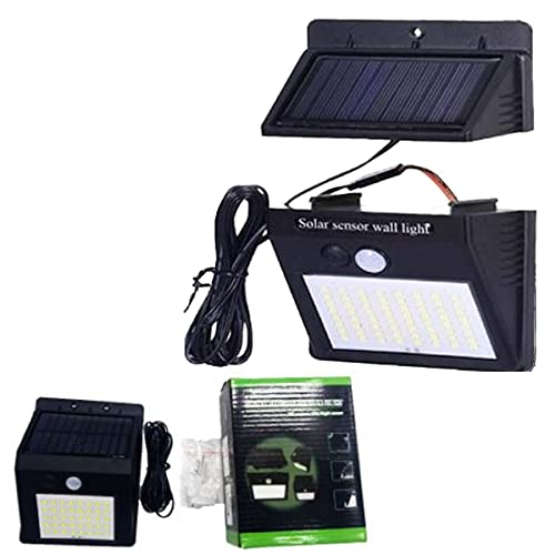 Luz solar exterior jardín sensor de movimiento placa desmontable foco solar led potente lámpara...