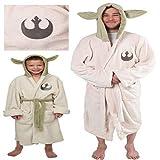 Star Cosplay Wars y-oda Ambas Robe Costume Jedi Fleece Hooded Bathrobe Dress Gown Adult Kids Niños Pijamas Ropa de Dormir