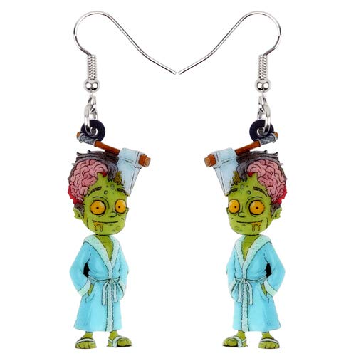 AdronQ Ohrringe Ohrstecker Ohrhänger Acryl Halloween Horrible Bademantel Ohrringe Drop Dangle Party Schmuck Für
