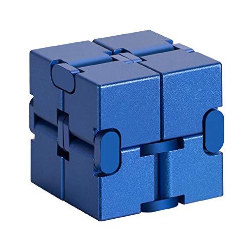ZYBB Cubo Infinito De Aleación De Aluminio, Cubo De Rubik De La Yema del Dedo, Alivio De La Tensión del Juguete De Dedo/TDAH Artefacto De Descompresión para Niños Juguete De Descompresión C