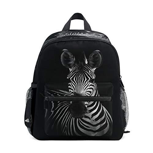 SunsetTrip Kinder-Rucksack, afrikanischer Vintage-Stil, Zebra-Gemälde, Kinder-Büchertasche mit Brustgurt, Kindergarten Vorschule Kleinkind Schultasche für Jungen Mädchen