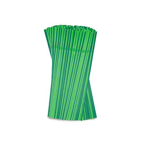 BIOZOYG pajitas Flexibles ecológicas Ø 0,5 cm I 500 pajitas de plástico orgánico PLA 24 cm Verde Claro y Oscuro Mezclado I popotes sostenibles de plástico Biodegradable para Bebidas