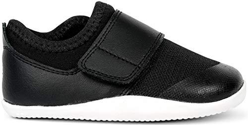 Bobux Xplorer Dimension II Trainer, Krabbelschuhe und Erste Schritte, Bobux aus Baumwolle und Leder, Schwarz - schwarz - Größe: 21 EU
