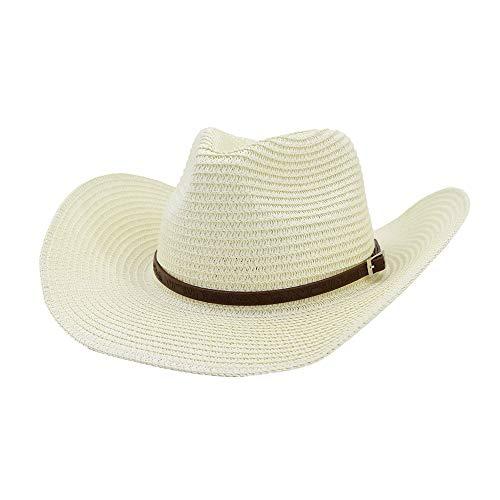HNNH-Hat Sombrero de sol para hombre y mujer, sombrero de trigo, sombrero...