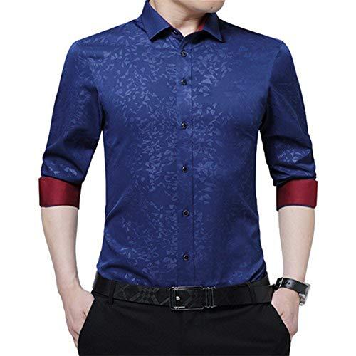 CLZC mannen kleding slim fit lange mouwen shirt print casual