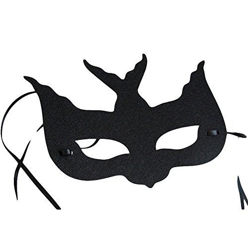 NAttnJf Mascarada de Disfraces de Halloween para Mujer Cosplay Swallow Bird Eye Mascarilla Facial Negro