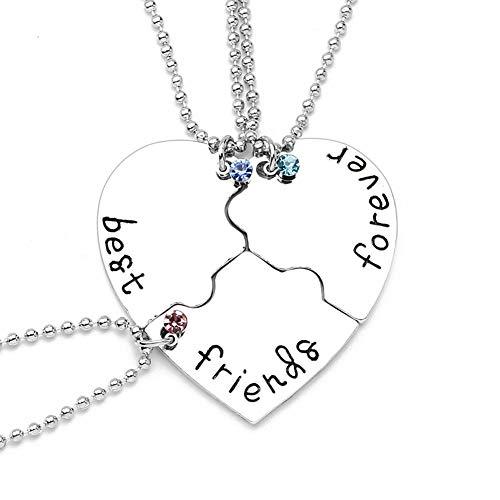 WPCASE Collar de la Amistad Esposa Collar Collar Festival Collar de Moda Collar para mamá Collar de corazón Lindo Collar de Simple Collar