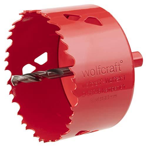 Wolfcraft 5476000 Lochsäge BiM kpl. mit Sechskant-Schaft und Bohrer Ø 83