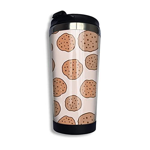 Cu Te Tumblr Cookie Pattern Regalos Travel 304 Stainl Acero inoxidable taza de café aislada al vacío 13 oz